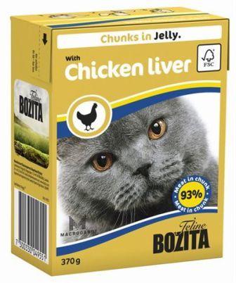 Bozita Super Premium (Бозита Супер Премиум) - Кусочки в желе для кошек c куриной печенью 370 гр