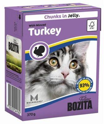 Bozita Super Premium (Бозита Супер Премиум) - Кусочки в желе для кошек с рубленной индейкой 370 гр