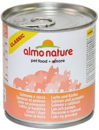 Almo Nature Adult Cat Salmon&Pumpkin (Алмо Натюр Эдалт Кэт Салмон энд Пампкин) - Консервы для взрослых кошек с лососем и тыквой 280 гр