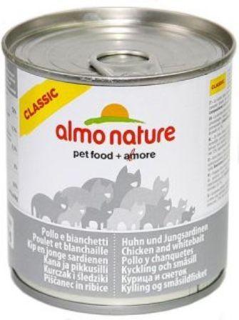Almo Nature Adult Cat Chicken&White Bait (Алмо Натюр Эдалт Кэт Чикен энд Уайт Бейт) - Консервы для взрослых кошек с курицей и сардинками 280 гр