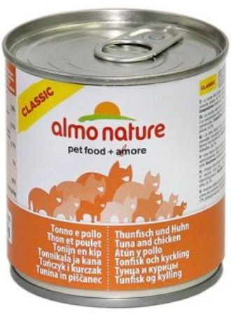 Almo Nature Adult Cat Chicken&Tuna (Алмо Натюр Эдалт Кэт Чикен энд Туна) - Консервы для взрослых кошек с курицей и тунцом 280 гр
