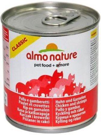Almo Nature Adult Cat Chicken&Shrimps (Алмо Натюр Эдалт Кэт Чикен энд Шримпс) - Консервы для взрослых кошек с курицей и креветками 280 гр