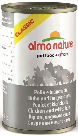 Almo Nature Adult Cat Chicken&White Bait (Алмо Натюр Эдалт Кэт Чикен энд Уайт Бейт) - Консервы для взрослых кошек с курицей и сардинками 140 гр