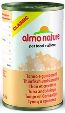 Almo Nature Adult Cat Tuna&Shrimps (Алмо Натюр Эдалт Кэт Туна энд Шримпс) - Консервы для взрослых кошек с тунцом и креветками 140 гр
