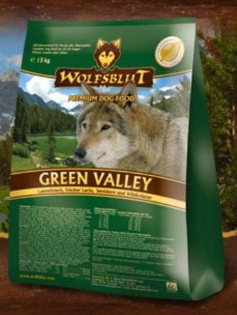 Wolfsblut Green Valley (Вулфсблат Грин Велли) - Корм для взрослых собак всех пород Волчья кровь Зеленая долина (ягненок, лосось и сладкий картофель) 15 кг