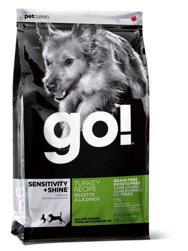 Go!Natural! Sensitivity Turkey Dog Recipe 30/16 (Гоу!Нэтурал! Сенситив Токи Дог Ресайп 30/16) - Корм для собак всех пород и возрастов (с индейкой беззерновой, без картофеля) 5,44 кг