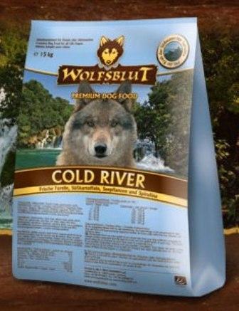 Wolfsblut Cold River (Вулфсблат Колд Ривер) - Корм для взрослых собак всех пород Волчья кровь Холодная река (сладкий картофель и форель) 15 кг