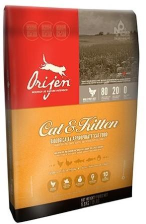 Orijen Cat&Kitten 80/20 (Ориджен Кэт энд Киттен 80/20) - Корм для кошек всех пород и возрастов с курицей (БЕЗЗЕРНОВОЙ) 17 кг (заводчики/питомники)