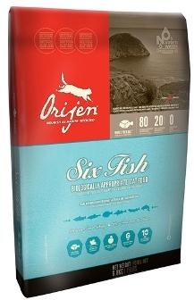 Orijen Cat&Kitten 80/20 6 Fish (Ориджен Кэт энд Киттен 80/20 6 Фиш) - Корм для кошек всех пород и возрастов с рыбой (БЕЗЗЕРНОВОЙ) 5,4 кг