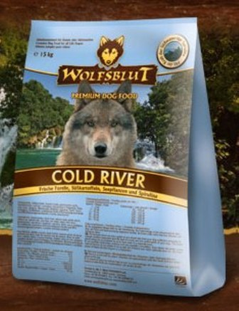 Wolfsblut Cold River (Вулфсблат Колд Ривер) - Корм для взрослых собак всех пород Волчья кровь Холодная река (сладкий картофель и форель) 2 кг