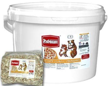 Четвероногий Гурман - Каша 4 злака с овощами 4 кг