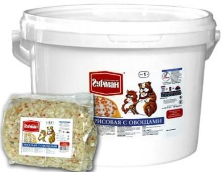 Четвероногий Гурман - Каша рисовая с овощами 4 кг