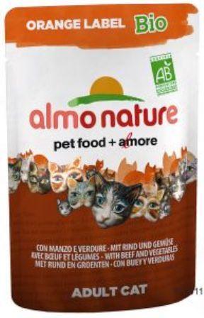 Almo Nature Orange Label (Алмо Натюр Оранж Лейбл) - Cухой корм для взрослых (и кастрированных) кошек всех пород (говядина) 750 гр