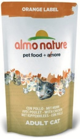 Almo Nature Orange Label (Алмо Натюр Оранж Лейбл) - Cухой корм для взрослых (и кастрированных) кошек всех пород (курица) 750 гр