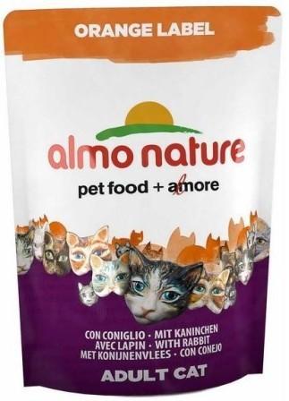 Almo Nature Orange Label (Алмо Натюр Оранж Лейбл) - Cухой корм для взрослых (и кастрированных) кошек всех пород (кролик) 750 гр