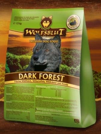 Wolfsblut Dark Forest (Вулфсблат Дарк Форест) - Корм для взрослых собак всех пород Волчья кровь Темный лес (оленина и сладкий картофель) 7,5 кг