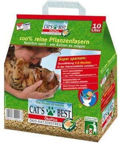 Cat's Best Eko Plus (Кэтс Бест Эко Плюс) - Наполнитель древесный комкующийся (для кошек) 40 л