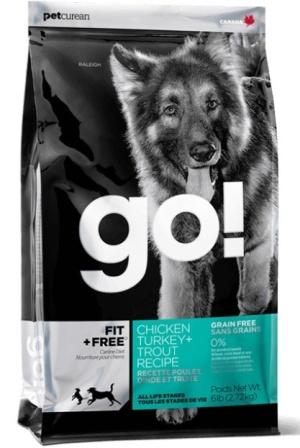 Go!Natural! Grain Free Dog Recipe 34/16 (Гоу!Нэтурал! Грейн Фри Дог Ресайп 34/16) - Корм для собак всех пород и возрастов (БЕЗЗЕРНОВОЙ, индейка, курица, лосось, утка) 2,72 кг