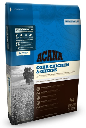 Acana Chicken&Greens (Акана Чикен энд Гринс) - Корм для взрослых собак всех пород (цыпленок с зеленью) 6 кг