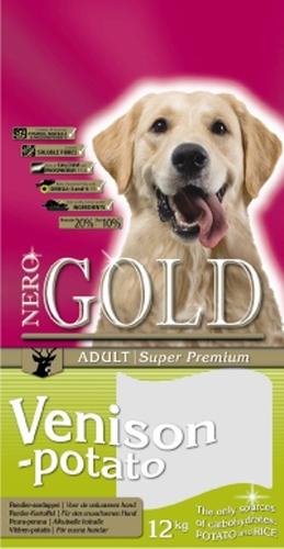 Nero Gold Super Premium Adult Venison&Potato 20/10 (Неро Голд Супер Премиум Эдалт Венисон энд Потейто 20/10) – Сухой корм для взрослых собак всех пород (оленина и картофель) 12 кг
