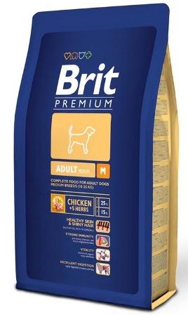 Brit Premium Adult M (Брит Премиум Эдалт М) - Корм для собак средних пород 3 кг