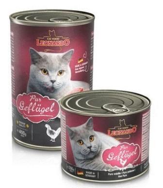 Leonardo (Леонардо) - Консервы для кошек Отборное мясо с птицей (индейкой) 400 гр