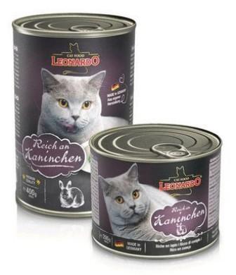 Leonardo (Леонардо) - Консервы для кошек Отборное мясо с дичью (кроликом) 200 гр