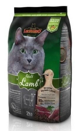 Leonardo (Леонардо) - Сухой корм для взрослых кошек склонных к аллергии на основе ягненка и риса 2 кг