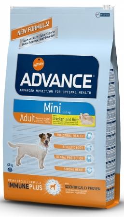 Advance - Для взрослых собак малых пород с курицей и рисом 0,8 кг (Mini Adult)