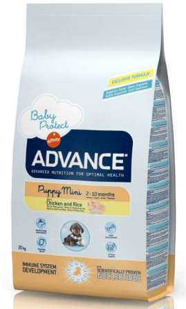 Advance - Для щенков малых пород с курицей и рисом 3 кг (Baby Protect Mini)