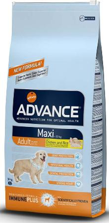 Advance - Для взрослых собак крупных пород с курицей и рисом 14 кг (Maxi Adult)