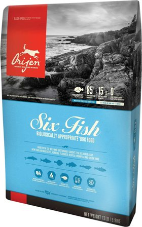 Orijen Adult 85/15 6 Fish (Ориджен Эдалт 85/15 6 Фиш) - Корм для собак всех пород и возрастов с рыбой гиппоаллергенный (БЕЗЗЕРНОВОЙ) 2 кг
