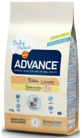 Advance - Для котят (с 2 до 12 месяцев) 1,5 кг (Baby Protect Kitten)