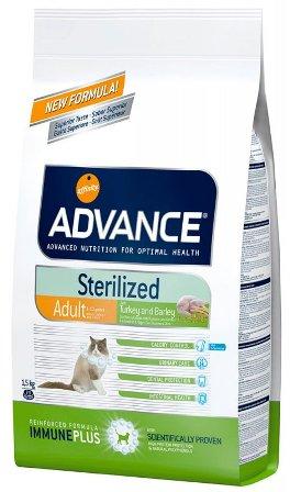 Advance - Для стерилизованных кошек с индейкой 15 кг (Sterilized Turkey)