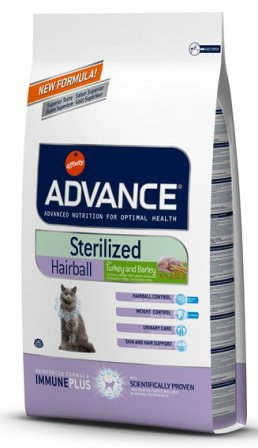 Advance - Для вывода шерсти у стерилизованных кошек 1,5 кг (Sterilized Hairball)