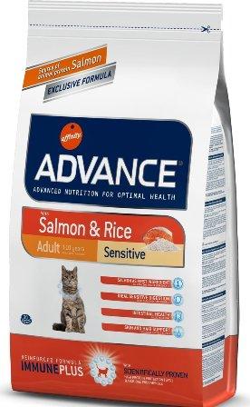 Advance - Для кошек с чувствительным пищеварением: лосось и рис 1,5 кг (Adult Salmon Sensitive)