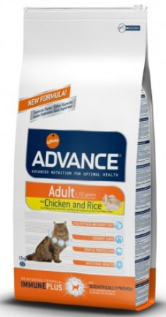 Advance - Для взрослых кошек: курица и рис 1,5 кг (Adult C&R)