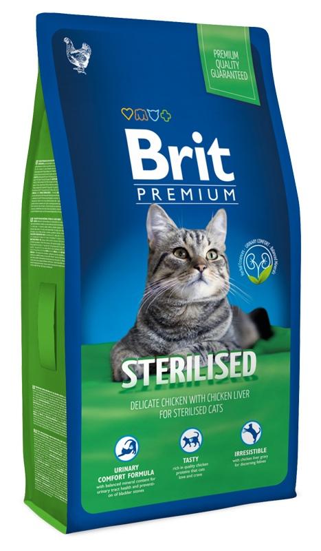 Brit Premium Cat (Брит Премиум Кэт) - Корм для стерилизованных кошек 8 кг