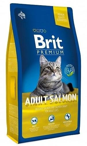 Brit Premium Cat (Брит Премиум Кэт) - Корм для взрослых кошек Лосось/Соус 1,5 кг