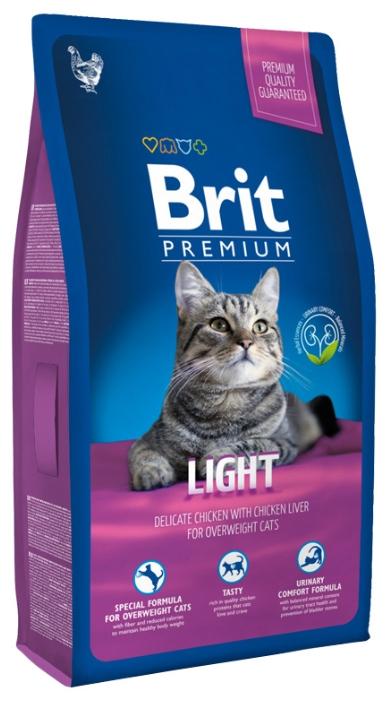 Brit Premium Cat (Брит Премиум Кэт) - Корм для кошек Лайт 0,8 кг