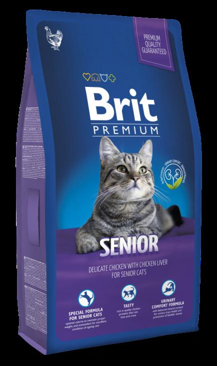 Brit Premium Cat (Брит Премиум Кэт) - Корм для кошек Сеньор 0,8 кг