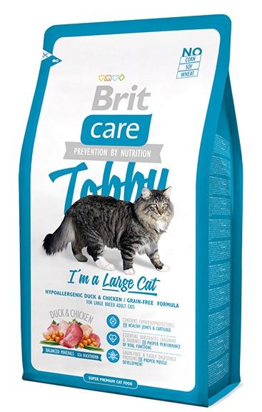 Brit Care Cat Tobby - Корм для кошек крупных пород 2 кг