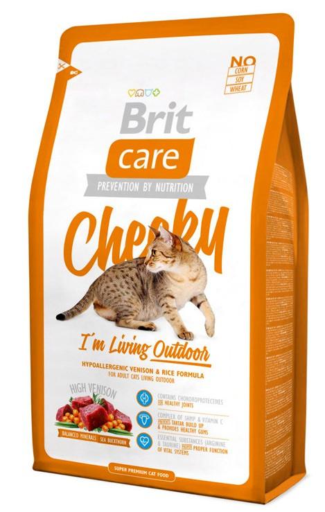 Brit Care Cat Cheeky Living Outdoor - Корм для активных кошек 2 кг