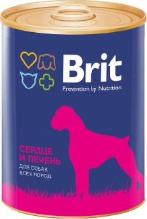 Brit (Брит) - Консервы для собак Сердце/Печень 850 гр