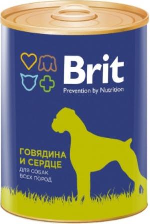 Brit (Брит) - Консервы для собак Говядина/Сердце 850 гр
