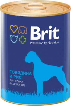 Brit (Брит) - Консервы для собак Говядина/Рис 850 гр