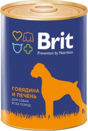Brit (Брит) - Консервы для собак Говядина/Печень 850 гр