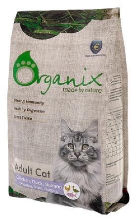 Organix (Органикс) - Для кошек: курица, утка и лосось 7,5 кг