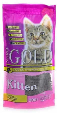 Nero Gold Super Premium Kitten 34/22 (Неро Голд Супер Премиум Киттен 34/22) – Сухой корм для котят всех пород 0,8 кг