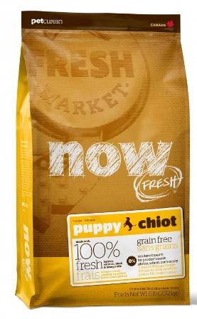 Now!Fresh! Puppy Recipe Grain Free 28/18 - Беззерновой корм для щенков с индейкой, уткой и овощами 5,45 кг